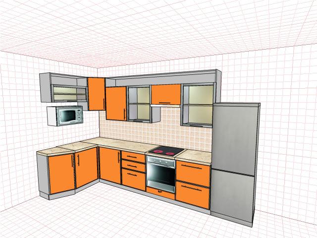 Как сделать макет кухни